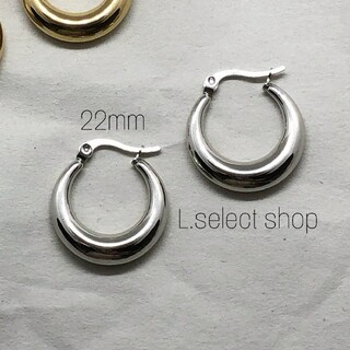 BEAUTY&YOUTH UNITED ARROWS - 301.plump hoop pierce【silver】