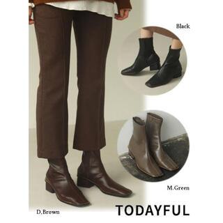 トゥデイフル(TODAYFUL)のtodayful  Strtch Leather Boots (ブーツ)