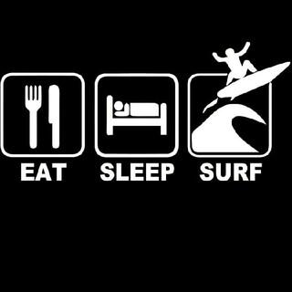 サーフステッカー EAT SLEEP SURF(サーフィン)