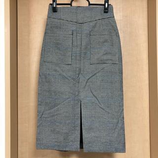 ヘザー(heather)のHeather チェックタイトスカート(ひざ丈スカート)