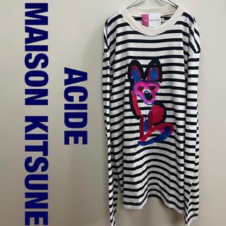 メゾンキツネ(MAISON KITSUNE')のMAISON KITSUNE TEE-SHIRT ACIDE ボーダーカットソー(Tシャツ/カットソー(七分/長袖))