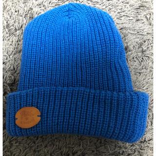 イルビゾンテ(IL BISONTE)のイルビゾンテ  ニット帽 ブルー(ニット帽/ビーニー)