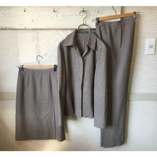 ニューヨーカー(NEWYORKER)のS060★ニューヨーカー スーツ3点セット JK11 SK9 パンツ7 グレー(スーツ)