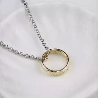 【限定価格!】即購入OK!ゴールドデザインリングネックレス