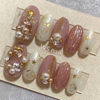 ネイルチップ♡No6クリスマスネイル