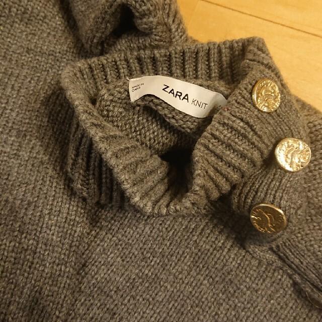 ZARA(ザラ)のZARA ザラ ボタン付きセーター ハイネック ニット レディースのトップス(ニット/セーター)の商品写真