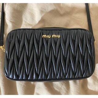 miumiu - miumiu「マテラッセ」レザー ショルダーバッグ