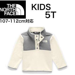 THE NORTH FACE - ノースフェイス キッズ フリース スナップ アウター 5T 110㎝ ホワイト