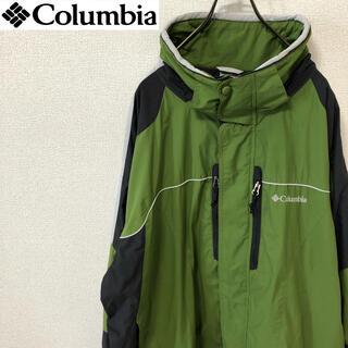 コロンビア(Columbia)のコロンビア マウンテンジャケット アースカラー 刺繍ロゴ ビッグサイズ(マウンテンパーカー)