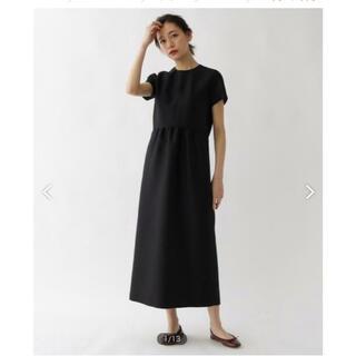 ドレステリア(DRESSTERIOR)の新品未使用 ドレステリア  シルクウール ブラック ドレス 36(ロングワンピース/マキシワンピース)