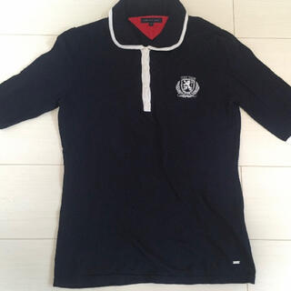 TOMMY HILFIGER - TOMMY  HILFIGER 美品 ポロシャツ Mサイズ サイズ140 黒 紺