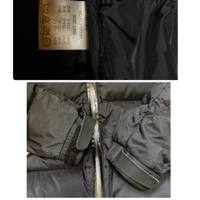 DOORS / URBAN RESEARCH(ドアーズ)のレディース NANGA ナンガ アーバンリサーチドアーズ コラボ ダウン レディースのジャケット/アウター(ダウンジャケット)の商品写真