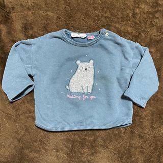 ザラキッズ(ZARA KIDS)のZARABaby 74 クマのパッチ付きスウェットシャツ(トレーナー)