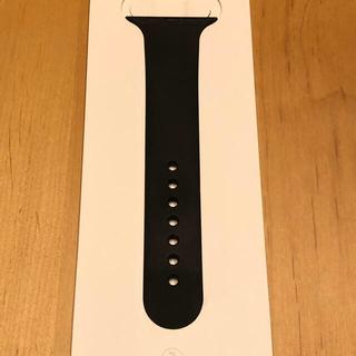 アップルウォッチ(Apple Watch)のApple Watch バンド片方 黒 箱付き(ラバーベルト)