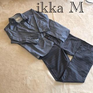 イッカ(ikka)のikka メンズ ボタンダウンシャツ 長袖シャツ M 青(シャツ)