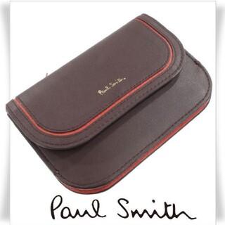 ポールスミス(Paul Smith)のPaul Smith 牛革レザー 二つ折り財布 ブラウン(折り財布)