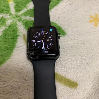 Apple Watch - 【画面割れ】Apple Watch series3 42mm