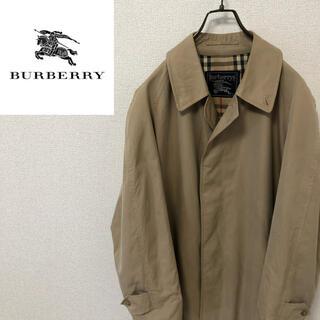 バーバリー(BURBERRY)の【BURBERRY】バーバリー ノバチェック ロングコート ヴィンテージ 90s(ステンカラーコート)