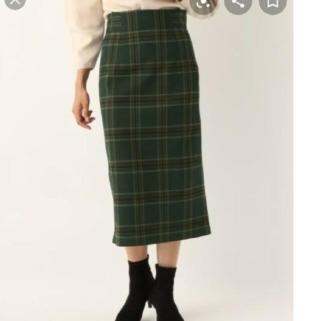apart by lowrys(アパートバイローリーズ)のアパートバイローリーズ チェックタイトスカート グリーン レディースのスカート(ロングスカート)の商品写真