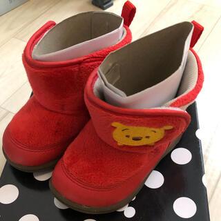 ムーンスター(MOONSTAR )のムーンスター  ディズニー くまのプーさん 14㎝ 女の子 ブーツ(ブーツ)