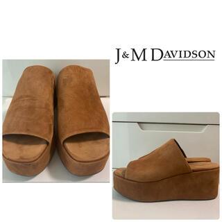 J&M DAVIDSON - J&M DAVIDSON ブラウンスエード サンダル