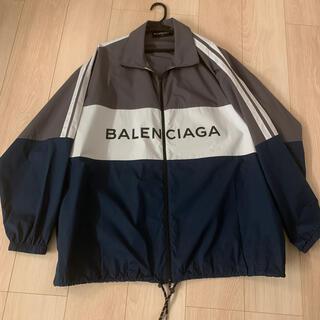 Balenciaga - バレンシアガ ナイロンジャケット ロゴ 美品 難あり 37サイズ