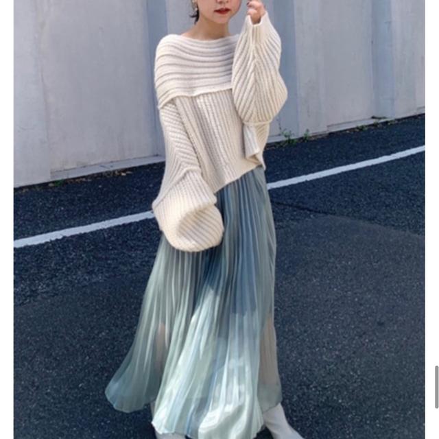 ✔︎アシメケーブルニットプルオーバー 【 スナイデル 好きに】 レディースのトップス(ニット/セーター)の商品写真