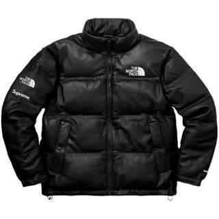 Supreme - supreme north face 17aw Leather nuptse L