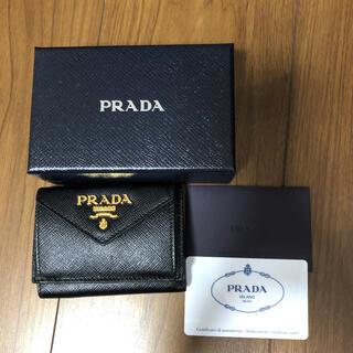PRADA - ♡PRADA サフィアーノ 三つ折りミニ財布♡