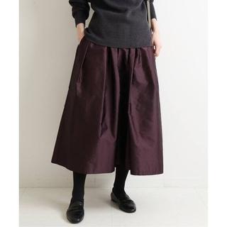 イエナ(IENA)のIENA【イエナ】☆AIDAタフタギャザースカート 新品ボルドー 36(その他)