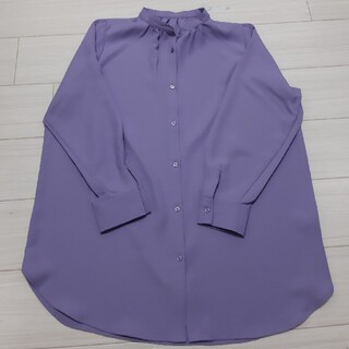 GU - 新品バンドカラーロングシャツ