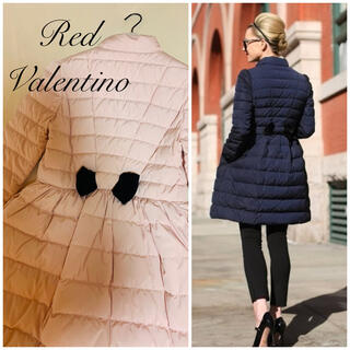 RED VALENTINO - RED VALENTINO♡ バックリボンダウンコート