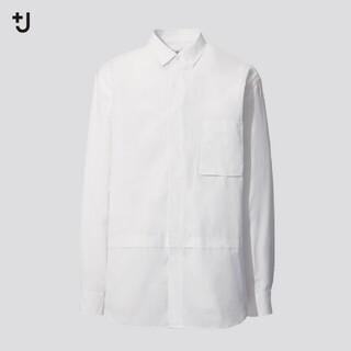 UNIQLO - ユニクロ+Jジルサンダースーピマコットンオーバーサイズシャツ