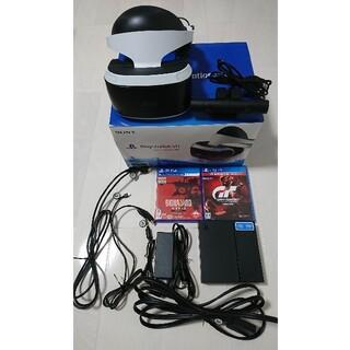 プレイステーションヴィーアール(PlayStation VR)のPS VR(Camera同封)+ソフト2本(家庭用ゲーム機本体)