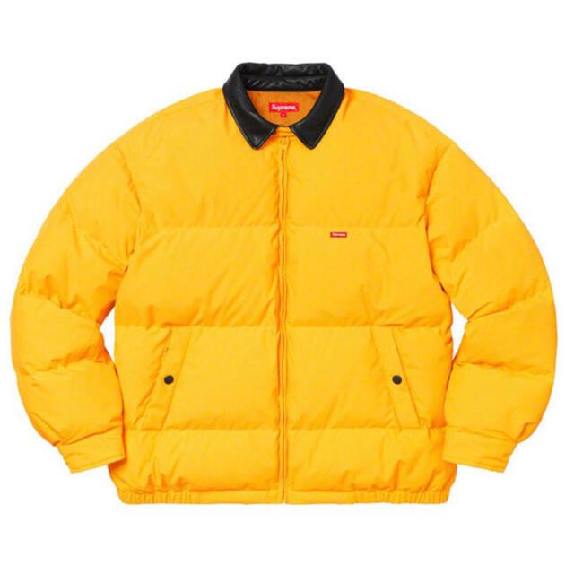 Supreme(シュプリーム)のsupreme Leather Collar Puffy Jacket メンズのジャケット/アウター(ダウンジャケット)の商品写真