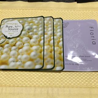 ミシャ(MISSHA)のフェイスパック 韓国 コスメ 4袋(パック/フェイスマスク)