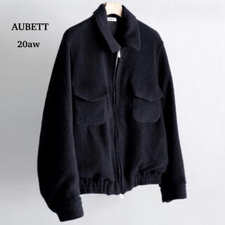 COMOLI - aubett オーベット 20aw WOOL BOA ZIP UP JACKET
