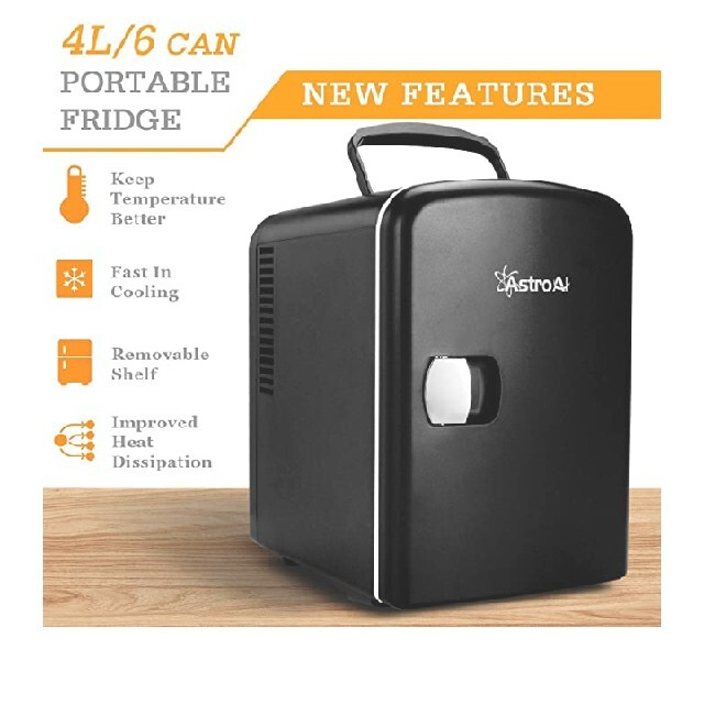 30 AstroAI 冷蔵庫 小型 ミニ冷蔵庫 小型冷蔵庫 冷温庫 保温 スマホ/家電/カメラの生活家電(冷蔵庫)の商品写真
