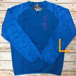 デサント(DESCENTE)のDESCENTE 長袖バリアフリースジャケット ブルー L 新品(ウェア)