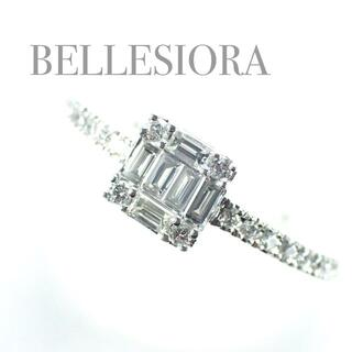 agete - ベルシオラ BELLESIORA K18WG ダイヤ 0.24ct リング