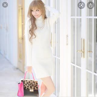 エミリアウィズ(EmiriaWiz)のエミリアウィズ ビジューネックレス付き ニットワンピース(ひざ丈ワンピース)