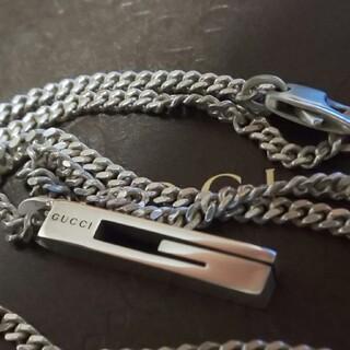 Gucci - 美品 GUCCI ネックレス カットアウトG モチーフ ペンダント ネックレス