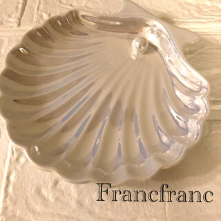 Francfranc - Francfranc フランフラン オパールシェルプレート S ホワイト