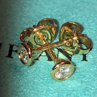 Tiffany & Co. - ティファニー バイザヤード ダイヤモンド ピアス イエローゴールド