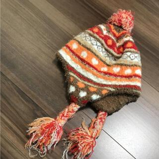 ニット帽 50〜52cm オレンジ(帽子)