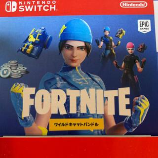 ニンテンドースイッチ(Nintendo Switch)のNintendo Switch Fortnite ワイルドキャット 特典(家庭用ゲーム機本体)
