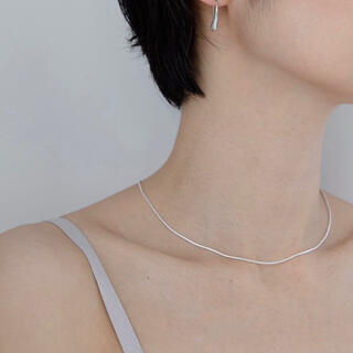 TODAYFUL - 即納_Silver925_Ines thin necklace(silver)