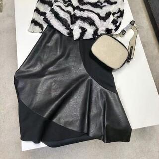 ステラマッカートニー(Stella McCartney)のStelaMcCartney  2020AW 異素材スカート(部分エコ革)(ロングスカート)
