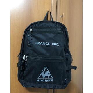 ルコックスポルティフ(le coq sportif)のルコック 新品未使用タグ付き リュック ブラック(リュック/バックパック)
