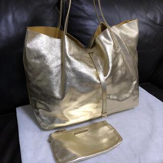 ティファニー(Tiffany & Co.)のTIFFANY&Co. / metallic leather tote *美品(トートバッグ)